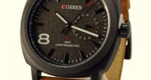 Réduction 20%: CURREN Montre Unisexe 100% Cuir Camel – 199dhs
