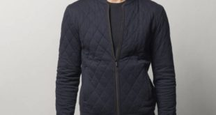 Quilted Jacket With Elbow Patches – 850dhs