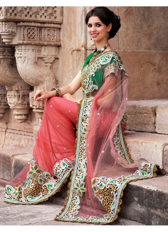 classic-coral-net-saree-with-blouse-800x1100
