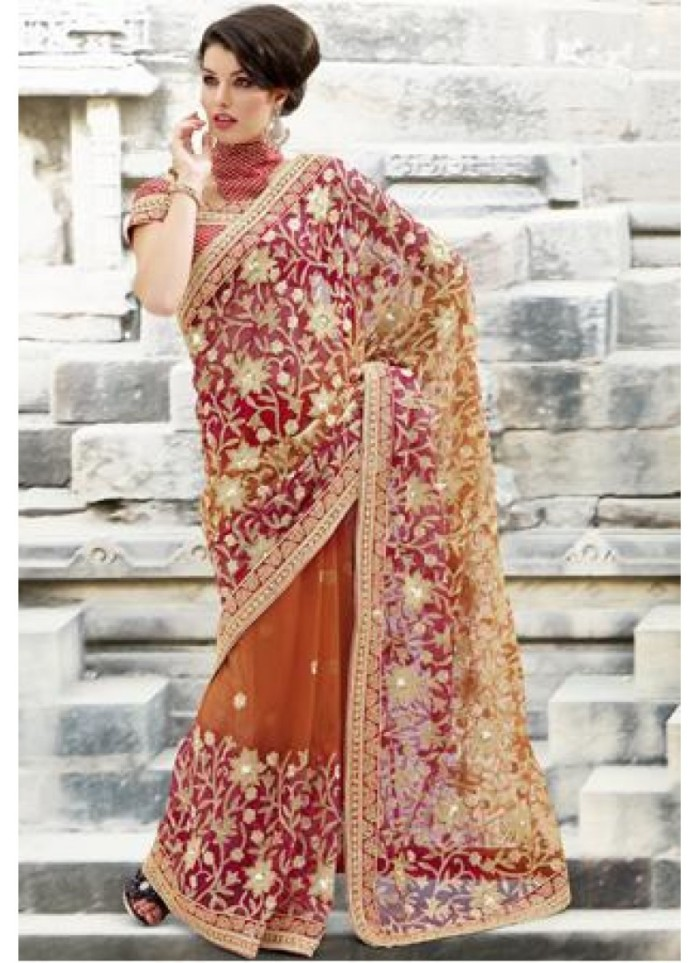 pink-and-orange-resham-zari-sequins-bead-cutbead-and-patch-border-work-net-saree-800x1100