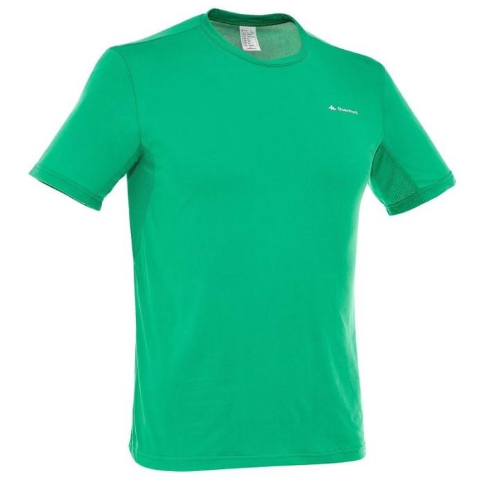 t-shirt-manches-courtes-randonnee-techfresh-50-homme-vert