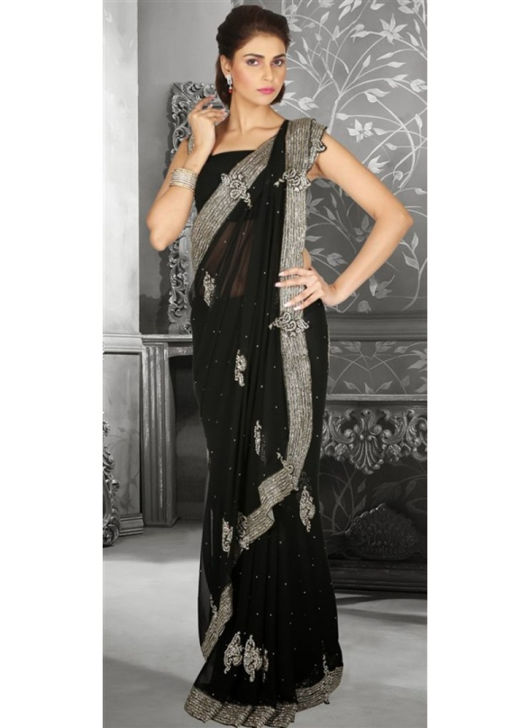 black-color-family-party-wear-saree-in-chiffon-fabric-800x1100