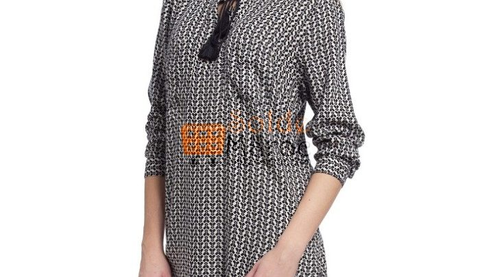Photo of 54% Réduction Navy Solid Large Long Sleeve Tunic – 99dhs