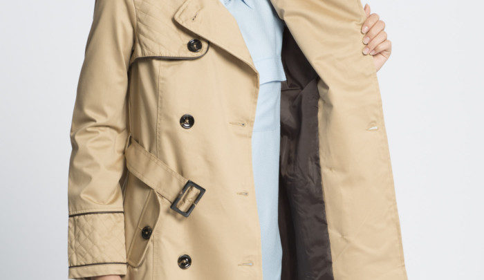 Photo of 25% Réduction Beige Lightweight Midi Trenchcoat – 359dhs