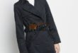 41% Réduction Navy Lightweight Midi Trenchcoat – 279dhs