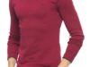 42% Réduction Burgundy Long Sleeve Solid Crew Neck T-Shirt – 69dhs