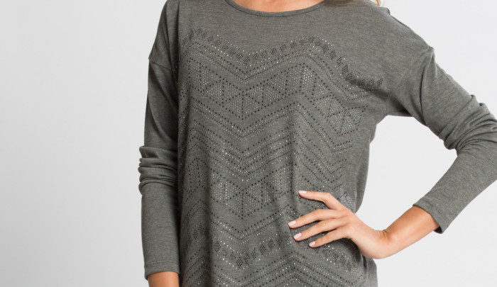 Photo of 26% Réduction Anthracite Standard Long Sleeve Crew Neck Body – 109dhs