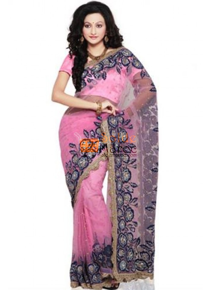 shaded-pink-net-saree-with-blouse-800x1100