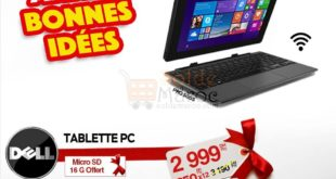 5% Réduction PC Tablette Dell 10 pouces – 2999Dhs