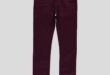 47% Réduction Burgundy Skinny Trousers – 99dhs