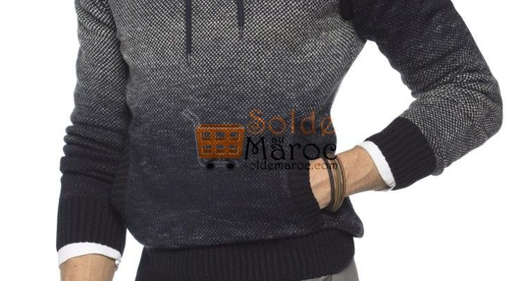 Photo of 41% Réduction Navy Solid Hooded Sweater – 139dhs