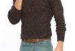 50% Réduction Brown Solid Turtle neck Heavyweight Sweater – 109dhs