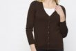 46% Réduction Brown Solid V neck Cardigan – 79dhs