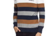 54% Réduction Brown Striped Lightweight Jumper – 99dhs