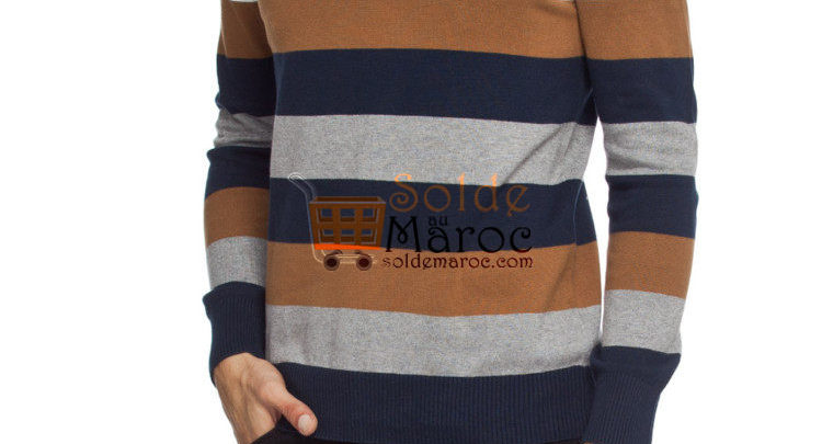 Photo of 54% Réduction Brown Striped Lightweight Jumper – 99dhs