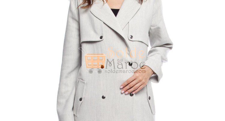 Photo of 54% Réduction Grey Lightweight Midi TRENCHCOAT – 299dhs