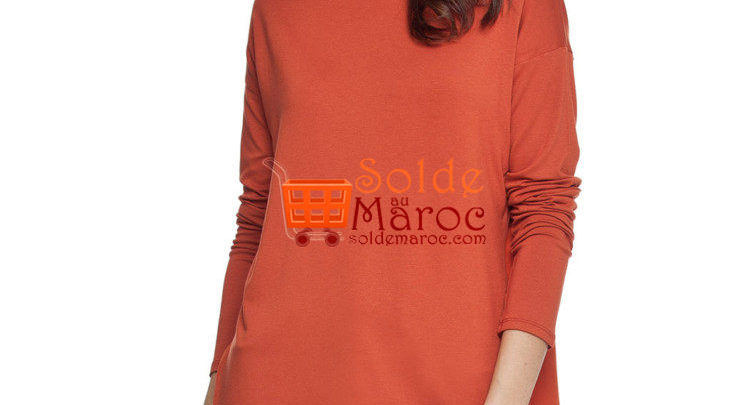 Photo of 46% Réduction Brown Standard Solid Long Sleeve Crew Neck Body – 79dhs