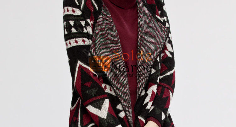 Photo of 54% Réduction Black Patterned Cardigan – 109dhs