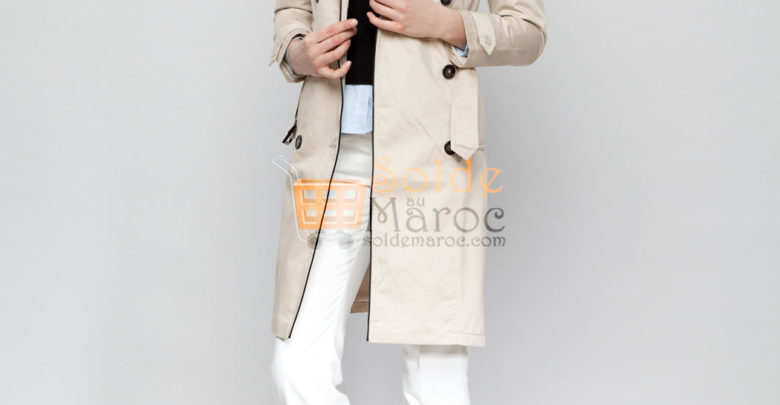 Photo of 54% Réduction Beige Midi Trenchcoat – 199dhs