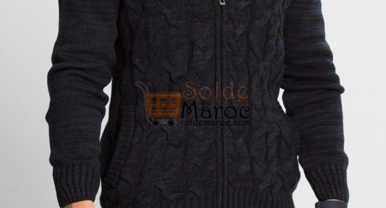 Photo of 24% Réduction Navy Solid Hooded Cardigan – 219dhs