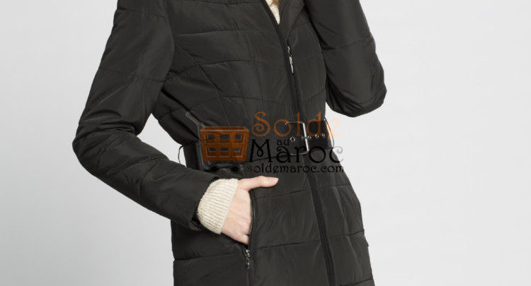 Photo of 23% Réduction Black Heavyweight Midi Short coat – 479dhs