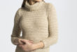 42% Réduction Beige Solid Turtle neck Sweater – 109dhs