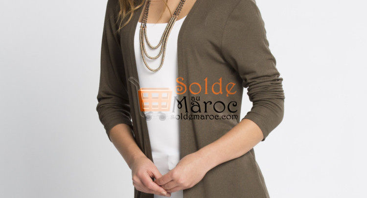 Photo of 23% Réduction Khaki Solid Cardigan – 129dhs
