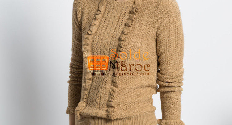 Photo of 22% Réduction Brown Solid Crew Neck Sweater – 169dhs