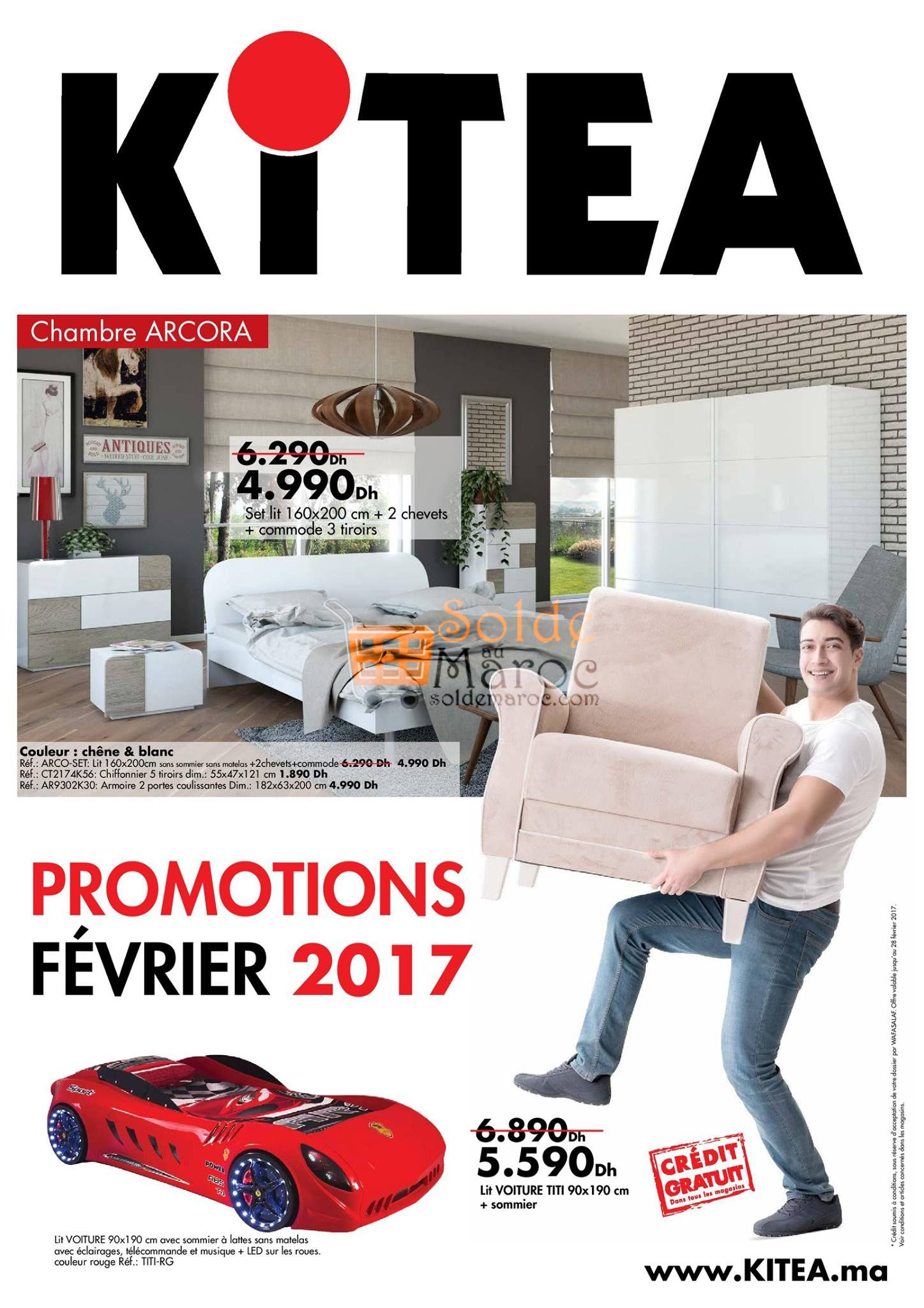catalogue kitea f vrier 2017 solde et promotion du maroc. Black Bedroom Furniture Sets. Home Design Ideas