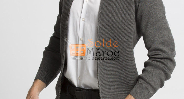 Photo of 25% Réduction Grey Solid Lightweight Crew Neck Cardigan – 239dhs