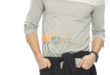 53% Réduction Ecru Skinny Long Sleeve Solid Crew Neck T-Shirt – 69dhs
