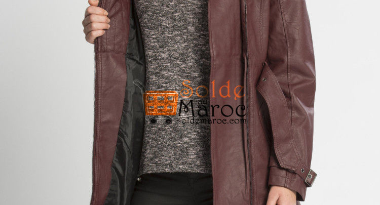 Photo of 23% Réduction Burgundy Midi Trenchcoat – 479dhs