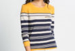 60% Réduction Green Standard Striped Long Sleeve Crew Neck Body – 59dhs