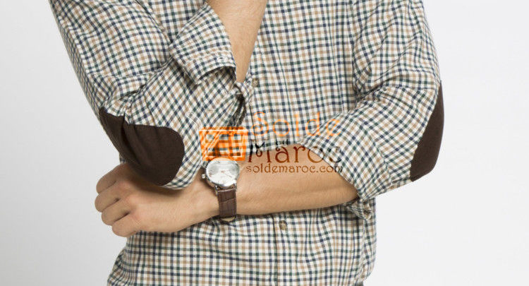 Photo of 53% Réduction Beige Skinny Long Sleeve check Buttoned Shirt – 79dhs