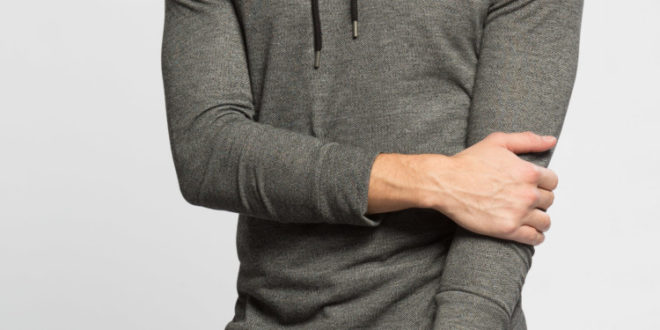 41% Réduction Anthracite Solid Skinny Long Sleeve T-Shirt – 99dhs