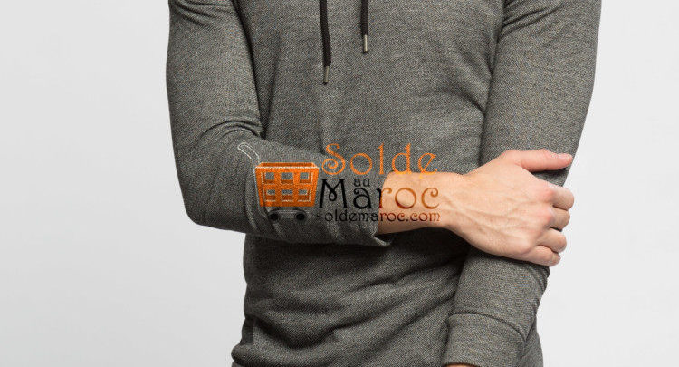 Photo of 41% Réduction Anthracite Solid Skinny Long Sleeve T-Shirt – 99dhs