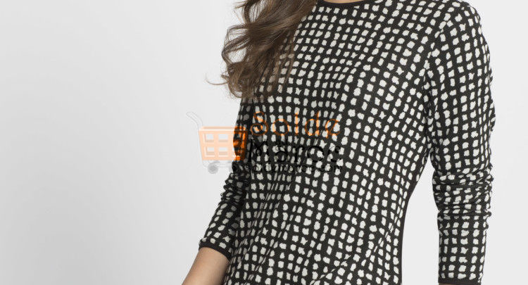 Photo of 46% Réduction Black Standard Printed Long Sleeve Crew Neck Body – 79dhs