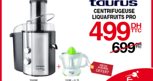 28% Réduction Centrifugeuse Taurus – 499Dhs