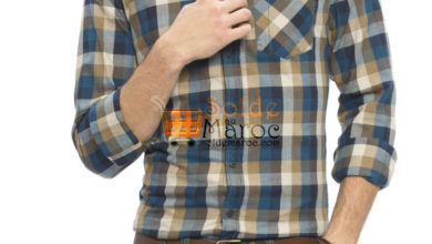 Photo of 41% Réduction Petrol blue Super skinny Long Sleeve check Buttonless Shirt – 99dhs
