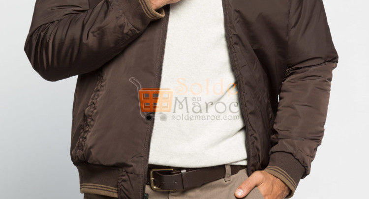 Photo of 45% Réduction Brown Heavyweight Standard Short Short coat – 259dhs