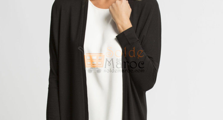 Photo of 53% Réduction Black Solid Cardigan – 69dhs