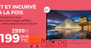 26% Réduction Tv ELITE Smart Curved Led 32″ Android 4.4 – 2199Dhs