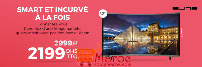 Photo of 26% Réduction Tv ELITE Smart Curved Led 32″ Android 4.4 – 2199Dhs