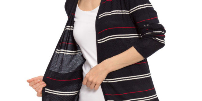 26% Réduction Navy Striped Cardigan 109dhs