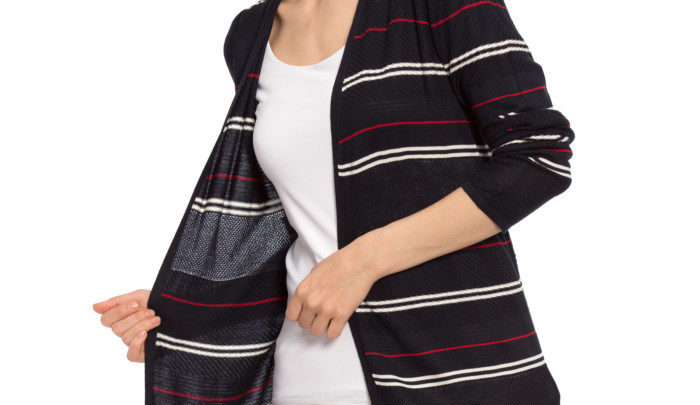 Photo of 26% Réduction Navy Striped Cardigan 109dhs