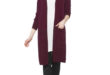 37% Réduction Burgundy Solid Cardigan 119dhs