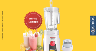 18% Réduction Promotion Cosmos Electro Blender Moulinex 399dhs