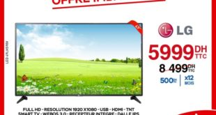 29% Réduction Electroplanet Smart TV LG 49° 5999Dhs