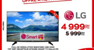 16% Réduction Electroplanet Smart TV LG 43° 4999Dhs