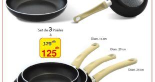 Promo Alpha55 Set de 3 poêles made in Italy 125 dhs